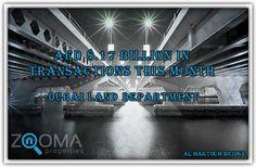 ٨.١٧ مليار درهم إماراتي قيمة معاملات هذا الشهر . - دائرة الأراضي والأملاك