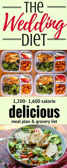 Hot: The Wedding Diet Meal Plan: Week 1 – Lifeandhealth.store: The Wedding Diet Meal Plan: Week 1 via Cooking The… Diet Food To Lose Weight, Weight Loss Meals, Weight Loss Diet Plan, Weigh Loss Meal Plan, Get Lean Meal Plan, Weight Loss Diets, Clean Diet Plan, One Week Meal Plan, Diet Meal Plans To Lose Weight