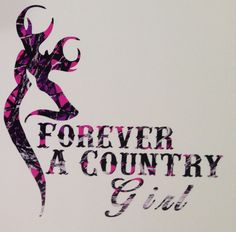"Muddy Girl Pink Camo Forever A Country Truck Vinyl Decal 5"" Hunt Deer Browning"