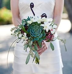Arrangements with Succulents, Wedding Flowers Photos by Haber Event Group - Wedding Planners
