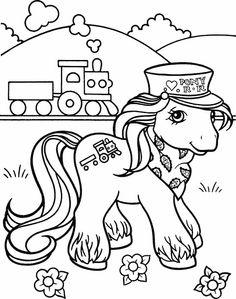 Min Lille Pony Tegninger til Farvelægning. Printbare Farvelægning for børn. Tegninger til udskriv og farve nº 2