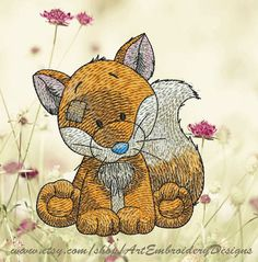 """Fox - Machine Embroidery Designs Set for a Babies and Children of a series """"Old Toy"""""""