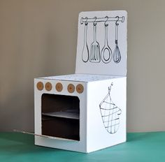Ok, this one might require a little help from Mom & Dad.  So cute!  Apartmenttherapy - Cardboard Craft by Estefi Machado