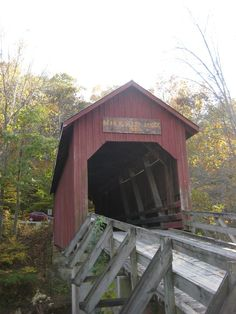 """""""Covered bridge near Bean Blossom, Indiana. Some of the buildings around here are more than fifty years old! Old Bridges, Great Lakes Region, Ohio River, Old Buildings, Covered Bridges, Lake Michigan, Beautiful Buildings, Windmill, Barns"""