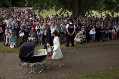 It is only the second time Princess Charlotte has been seen in public, and the first time ...