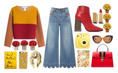 """Mustard and Ketchup"" by niconi ❤ liked on Polyvore featuring Philosophy di Lorenzo Serafini, RED Valentino, Emilio Pucci, The French Bee, Moschino, Rifle Paper Co, Gucci, Marni, Fujifilm and Casetify"