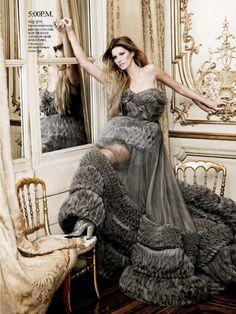 24-Hour Couture   Gisele Bündchen   Karl Lagerfeld #photography   Harper's Bazaar Korea August 2007