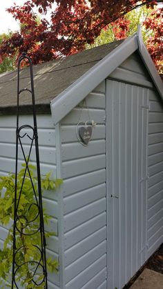Freshen Up Your Shed This Summer With Farrow Ball Parma Gray Exterior Paint