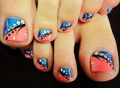 Toe nails, uñas de pies decoradas, esmaltes