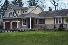 See the transformation of this previously single-story 3-bedroom ranch to custom Colonial.   thisoldhouse.com