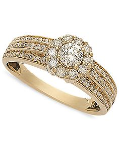 Diamond Circle Engagement Ring in 14k Gold (5/8 ct. t.w.)