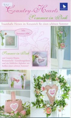 Acufactum - Country-Hearts Sommer in Pink - Татьяна Кудрявцева - Picasa Webalbumok Cross Stitch Magazines, Cross Stitch Books, Cross Stitch Needles, Cross Stitch Heart, Cross Stitch Cards, Cross Stitching, Cross Stitch Embroidery, Cross Stitch Patterns, Magazine Cross
