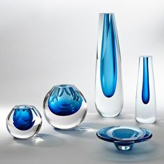 Cobalt vases by Global Views, so pretty!