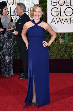 Kate Winslet wearing the Jimmy Choo ABEL pump at the 2015 #GoldenGlobes