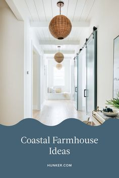 Somewhere between a charming Mediterranean escape and a rustic seaside cottage you'll find coastal farmhouse. Channeling the novel style goes beyond a nautical scheme with pastoral accents, and instead infuses a traditional combo with a contemporary touch. Here's how to bring the look home. #hunkerhome #farmhouse #coastal #coastalfarmhouse #farmhouseideas Craftsman House Plans, Country House Plans, Modern House Plans, Small House Plans, House Floor Plans, Coastal Farmhouse, Coastal Cottage, Coastal Homes, Coastal Living Rooms