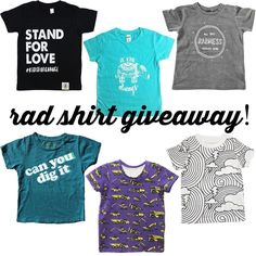 Rad Kid Giveaway!   Calling all cool t-shirt fans! 6 amazing shops have teamed up to bring one lucky kiddo a prize pack full of totally rad shirts for summertime!   To Enter: 1. Follow us and like this photo! 2. Head over to @wireandhoney 3. Follow steps 1  2 until you get back here (make sure you're following everyone we will check!) 4. BONUS: for extra entries tag friends in the comments - one friend per line please!   That's it! This giveaway ends Friday 6/16 at 12AM EST - winner will be…