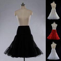 Vintage Tea Length Swing Skirt Prom Silps Crinoline Bridal Petticoat Underskirt