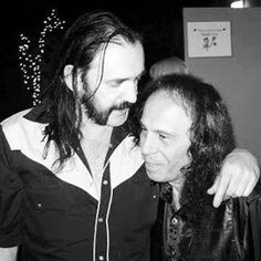 Lemmy Kilmister and Ronnie James Dio. Rest in Peace . Metallica, Heavy Metal Music, Heavy Metal Bands, Black Sabbath, Rock And Roll Bands, Rock Bands, Hard Rock, James Dio, Metal T Shirts