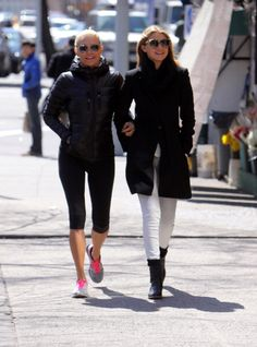 Yolanda Foster and Gigi Hadid seen out in Soho on April 04 2013 in New York City