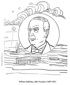 Free Printable President William McKinley Coloring Pages