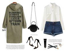 """Print coat"" by yexyka ❤ liked on Polyvore featuring Bobbi Brown Cosmetics, Georg Jensen, Zara, Banana Republic, Sheinside and shein"