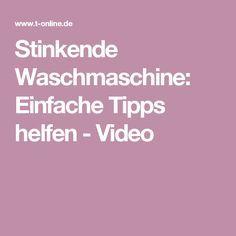 Stinkende Waschmaschine: Einfache Tipps helfen - Video