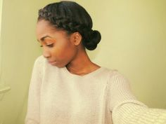 Big French braid crown protective style