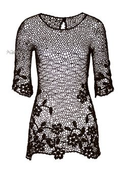 Туника крючком. Nico Pima Cotton Tunic. Peruvian connection. Collection 2014. #crochet_tunic #Peruvian_connection.