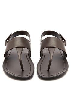 Prada Back-strap leather sandals #menssandals