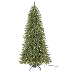 Holiday Living 7-1/2-ft Englewood Pine Pre-lit One Plug Quick ...