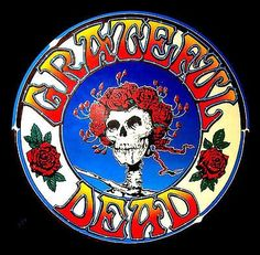 "Used 2.5"" Grateful Dead LSD SKULL & ROSES Vintage style STICKER ..."