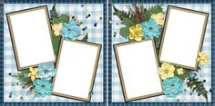 Forest Girl - Digital Scrapbook Pages - INSTANT DOWNLOAD