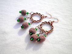 Brown Lavastone Earrings  from juta ehted - my jewelry shop by DaWanda.com