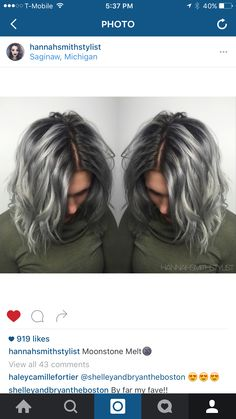 Kenra Color! Metallics. Silver Hair. Shadow root. Love!!!!