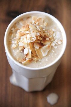 Toasted coconut banana smoothie. Xo, LisaPriceInc.