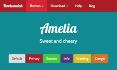 A calm blue sky - amelia <Bootstrap Template: Bootstrap> more on http://html5themes.org
