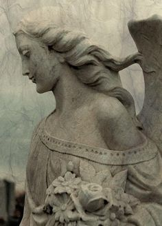 Items similar to Gothic Stone Angel, Fine Art, Stone Art Photograph, Gothic Decor - Angel Hair on Etsy Cemetery Angels, Cemetery Statues, Cemetery Art, Angeles, I Believe In Angels, Ange Demon, Angels In Heaven, Guardian Angels, Angel Art