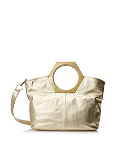 www.myhabit.com  A large hexagonal handle tops this modern style complete with an inner zip and 2 slip pockets
