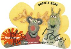 Postcards From Planet Nickelodeon: Bogey the Bogie and Rude the Reindeer (Autographed)