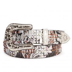 Angel Ranch Black Flourish Belts - Belts - Accessories - Womens