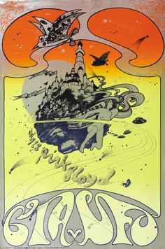 Pink Floyd at the UFO club, July Poster by Hapshash and the Coloured Coat Rock Posters, Band Posters, Music Posters, Vintage Concert Posters, Vintage Posters, Psychedelic Music, Psychedelic Posters, Hippie Posters, Wes Wilson