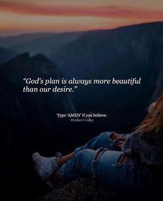 Gods plan is always more beautiful..