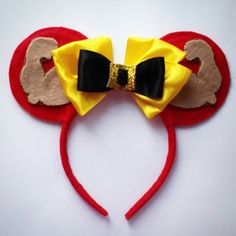 Gaston Minnie Mouse Inspired ears.