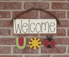 MONTHLY WELCOME SIGN June for wall and home decor by lisabees, $24.95