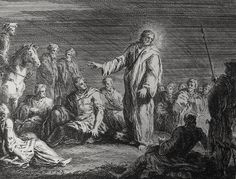 Christ's earthly ministry in the Phillip Medhurst Bible 146 of 550 Jesus comes into Galilee Mark 1:14 Parros on Flickr. A print from the Phillip Medhurst Collection at St. George's Court, Kidderminster.