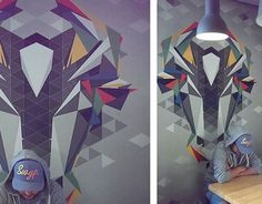 """Check out new work on my @Behance portfolio: """"Wall mosaic cow"""" http://on.be.net/1R6C2vM"""