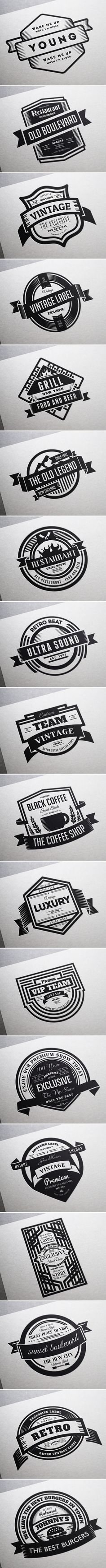 18 Vintage Labels & Badges / Logos / Insignias on Behance