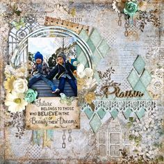 happy scrap life! Blue Fern Studios [April Sketch Challenge]