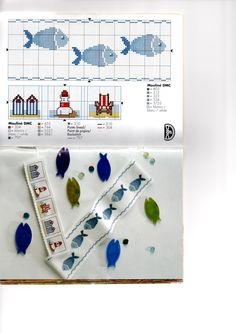 poissons, point de croix Cross Stitch Sea, Cross Stitch Bookmarks, Cross Stitch Borders, Cross Stitch Designs, Cross Stitching, Cross Stitch Embroidery, Cross Stitch Patterns, Needlepoint Designs, Rug Hooking