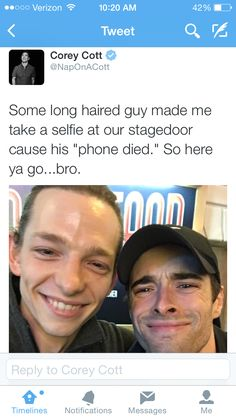 Corey and Mike Faist
